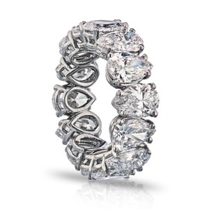 Gavriel's Jewelry 8.67cts Diamond Eternity Band With Pear Cut Diamonds GIA
