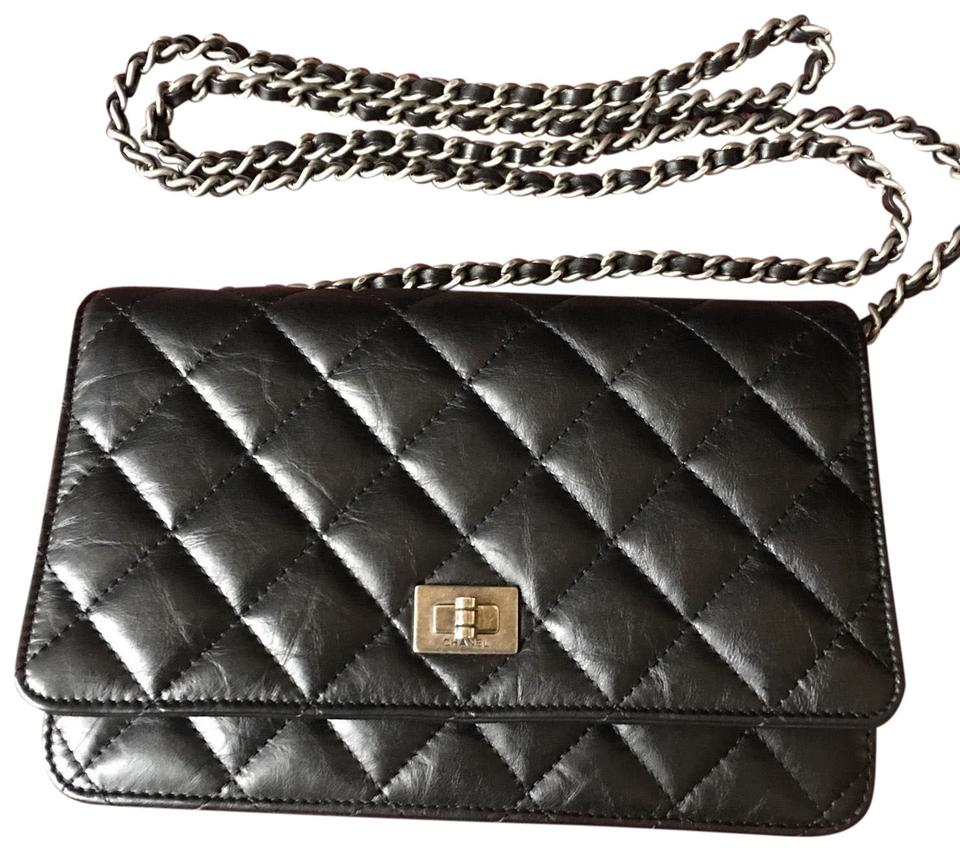 c82edcae7f74 Chanel Wallet on Chain 2.55 Reissue Woc Distressed Calfskin Black ...