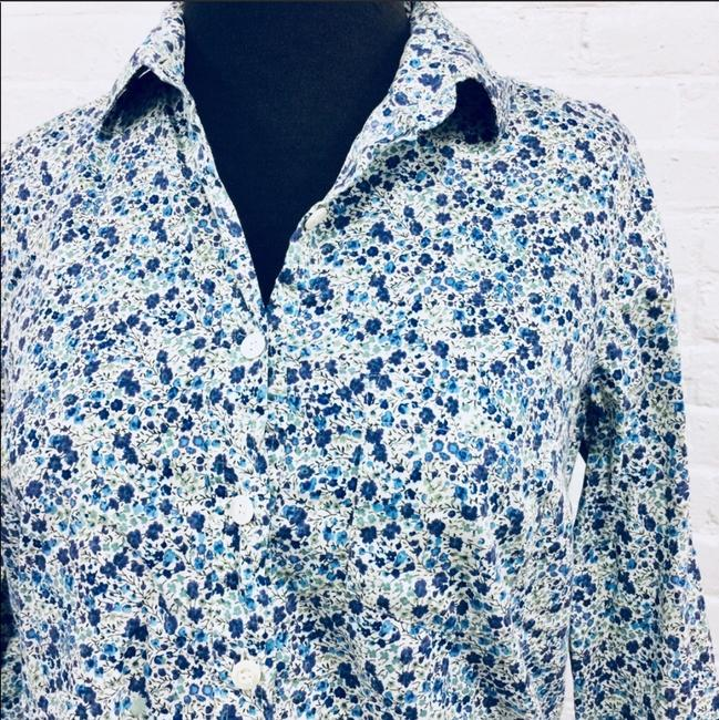J.Crew Button Down Shirt Blue, White