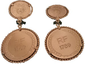 Dior Christian Dior Limited Edition Bicentennial Coin Earrings
