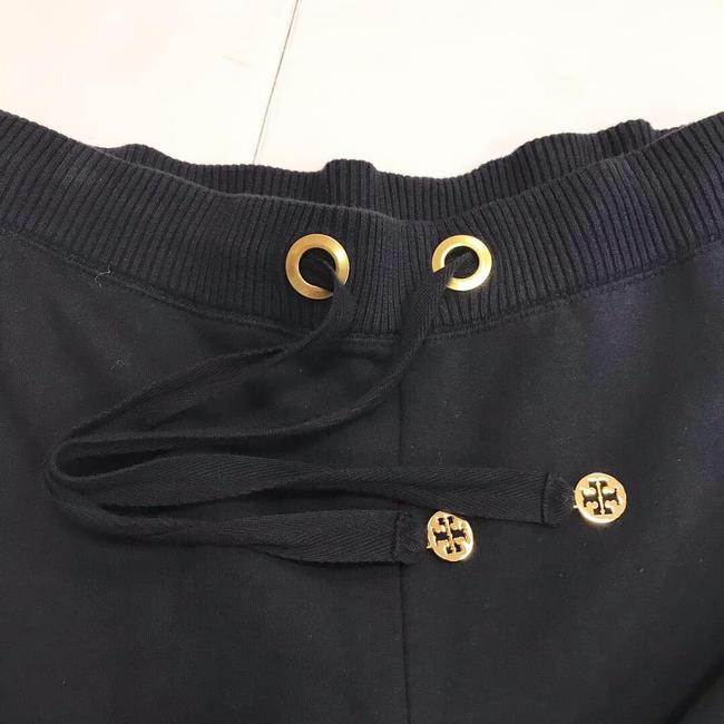 Tory Sport by Tory Burch Chic Signature Gold Hardware Flare Pants Navy