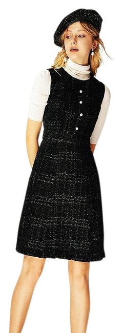Preload https://img-static.tradesy.com/item/24554120/kate-spade-black-sparkle-tweed-pearl-buttons-lbd-new-2018-short-night-out-dress-size-4-s-0-1-650-650.jpg