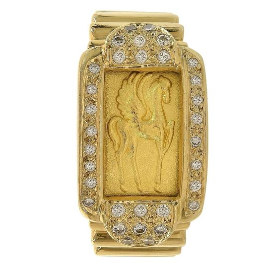 Preload https://img-static.tradesy.com/item/24554124/048-carat-round-diamond-fine-gold-ingot-24k-and-18k-yellow-gold-ring-0-0-540-540.jpg