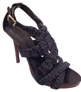 Fleur High Heel Sandal Navy Sandals