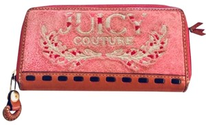 Juicy Couture Juicy Couture Leather Pink Velvet Wallet
