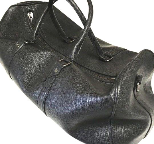Preload https://img-static.tradesy.com/item/24554191/zara-bowling-black-leather-weekendtravel-bag-0-1-540-540.jpg