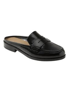 Banana Republic Penny Loafer Demi Leather Black Flats