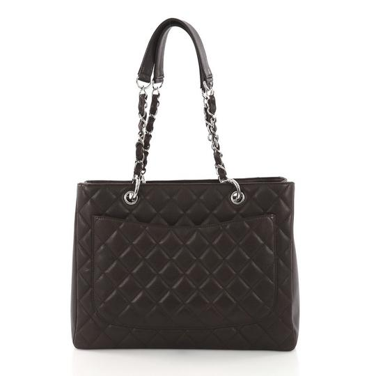 Chanel Leather Tote in Dark Brown
