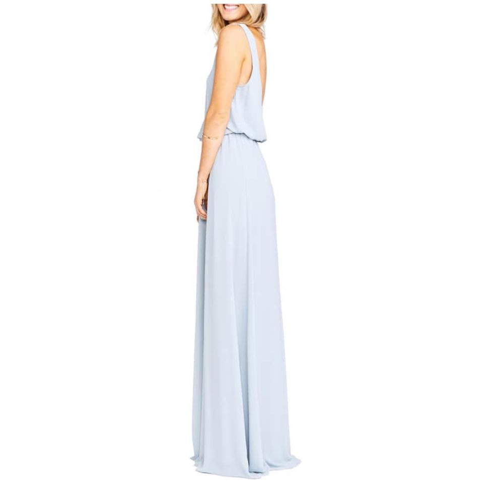 50d18706d2 Show Me Your Mumu Steel Blue Kendall Chiffon Long Casual Maxi Dress ...