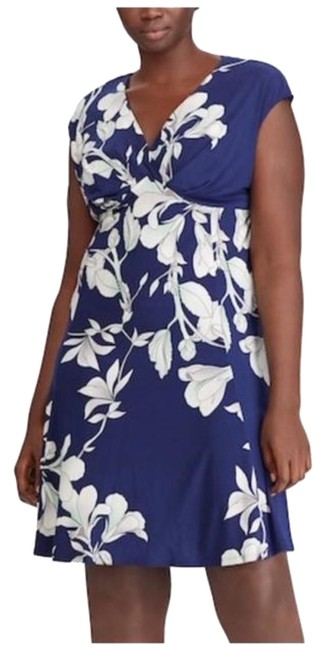 Preload https://img-static.tradesy.com/item/24554223/chaps-blue-floral-empire-mid-length-cocktail-dress-size-18-xl-plus-0x-0-1-650-650.jpg