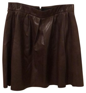 Vince Mini Skirt Chocolate Brown