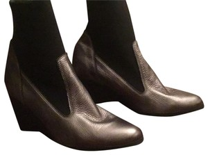 Arche Grey leather with black stretch material Boots