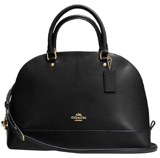 Preload https://img-static.tradesy.com/item/24554258/coach-sierra-crossgrain-black-leather-satchel-0-1-540-540.jpg