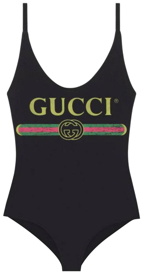 7cbb7b24b7 Gucci Sparkling Swimsuit with Logo One-piece Bathing Suit Size 8 (M ...