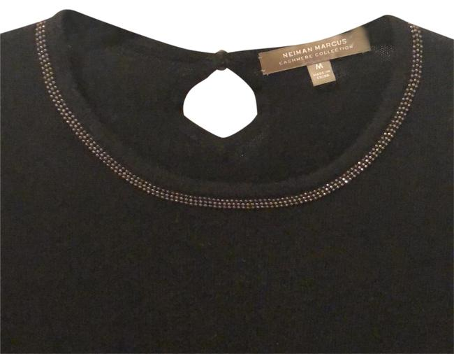 Neiman Marcus Cashmere T-shirt Black Sweater Image 0