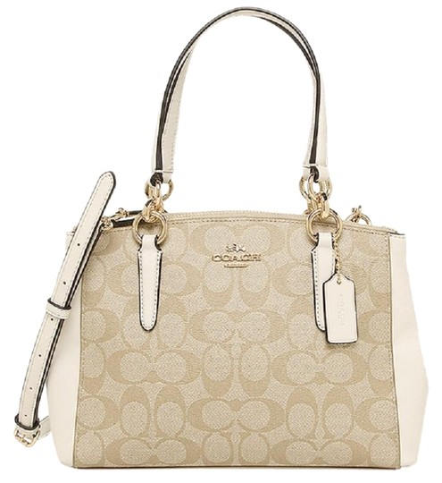 Preload https://img-static.tradesy.com/item/24554300/coach-christie-signature-mini-carryall-khakichalk-pvc-shoulder-bag-0-1-540-540.jpg