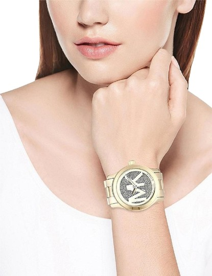 Michael Kors Michael Kors Watch MK5706 Runway Gold-Tone Logo Dial Women's Watch