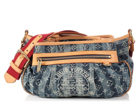 Louis Vuitton Lv.p1126.09 Limited Edition 2007 Trunks Gold Hardware Satchel in Blue