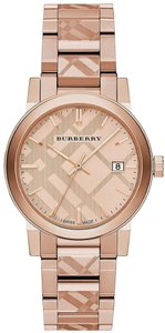 Burberry Burberry Watch Rose Gold Tone Dial Stainless Steel Watch BU9039