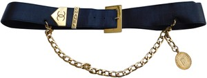 Chanel VINTAGE CHANEL RUE CAMBON LEATHER BELT CHAIN