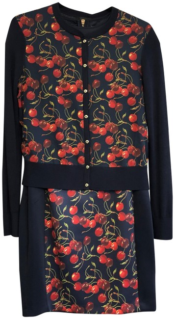 Preload https://img-static.tradesy.com/item/24554402/ted-baker-navy-cherry-print-and-cardigan-mid-length-workoffice-dress-size-8-m-0-2-650-650.jpg