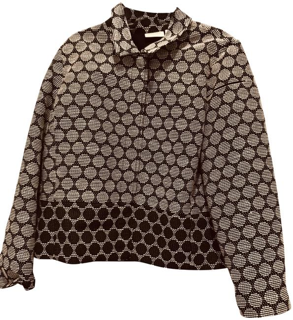 Preload https://img-static.tradesy.com/item/24554455/chico-s-blackwhite-polka-dot-jacquard-jacket-size-12-l-0-1-650-650.jpg