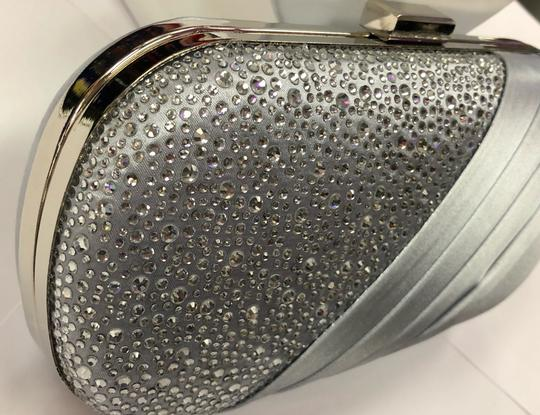 Crystal Collection Evening Evening Rhinestone Silver Clutch Image 10
