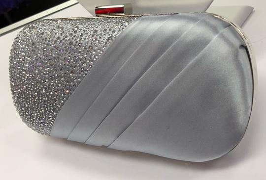 Crystal Collection Evening Evening Rhinestone Silver Clutch Image 2