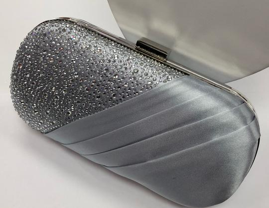 Crystal Collection Evening Evening Rhinestone Silver Clutch Image 8