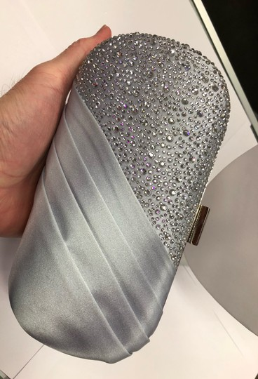 Crystal Collection Evening Evening Rhinestone Silver Clutch Image 9