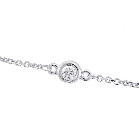 Avital & Co Jewelry 1.75 Carat Round Diamonds by the Yard Necklace 14K White Gold 6.0gr Image 2