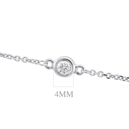 Avital & Co Jewelry 1.75 Carat Round Diamonds by the Yard Necklace 14K White Gold 6.0gr Image 3