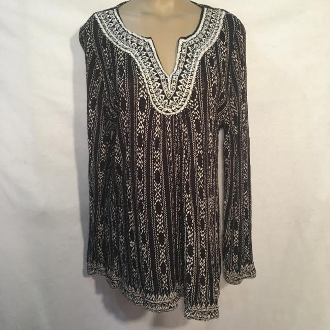 Lucky Brand Top Black & White Image 4