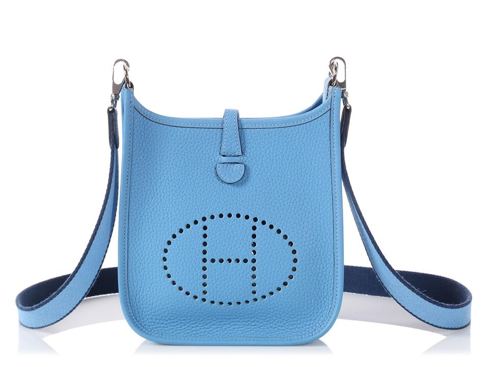 140f75d2a3b6 Hermès Evelyne   on Hold For Aff   Tpm Clemence Paradise Blue Leather Cross  Body Bag 18% off retail