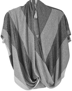 Bailey 44 Metallic Draped Front Evening Wear Top grey/silver