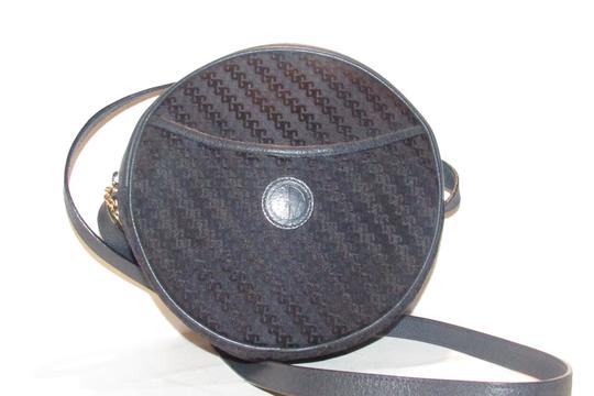 Gucci Mint Vintage Round/Canteen Style Square G Logo Canvas/Leather Tom Ford Era Style Shoulder Bag Image 4