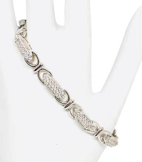 Preload https://img-static.tradesy.com/item/24554642/silver-designer-18kt-white-gold-over-925-intricate-handcrafted-gb00100a-bracelet-0-3-540-540.jpg