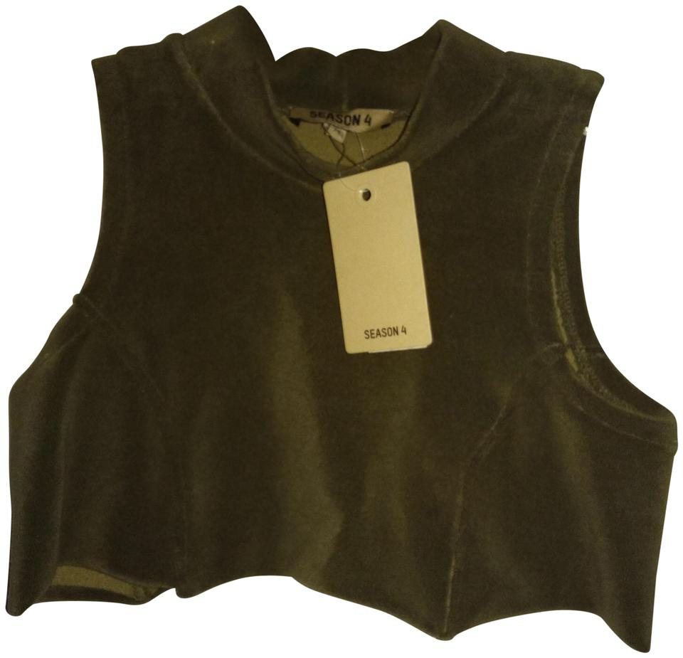 decccdeb9 YEEZY Dark Green M Season 4 Cropped Thick Fabric Tank Top Cami Size ...