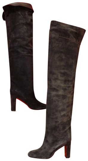 Preload https://img-static.tradesy.com/item/24554680/christian-louboutin-grey-alta-gant-85-charcoal-suede-over-the-knee-bootsbooties-size-eu-395-approx-u-0-1-540-540.jpg