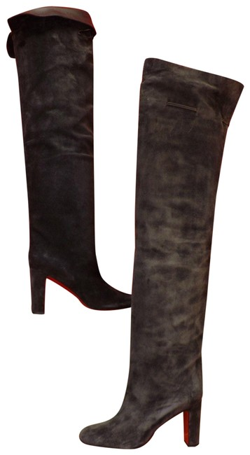 Item - Grey Alta Gant 85 Charcoal Suede Over The Knee Boots/Booties Size EU 39.5 (Approx. US 9.5) Regular (M, B)