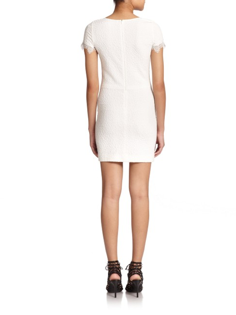The Kooples short dress White Textured Lace Mesh Crepe Scalloped on Tradesy Image 1