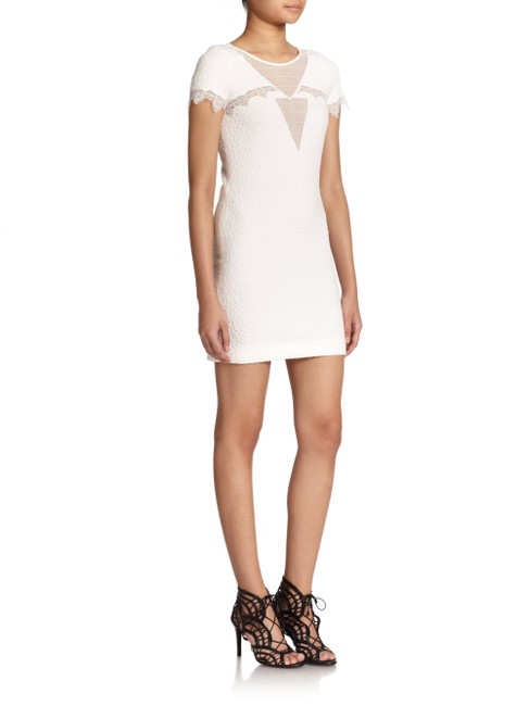 The Kooples short dress White Textured Lace Mesh Crepe Scalloped on Tradesy Image 2