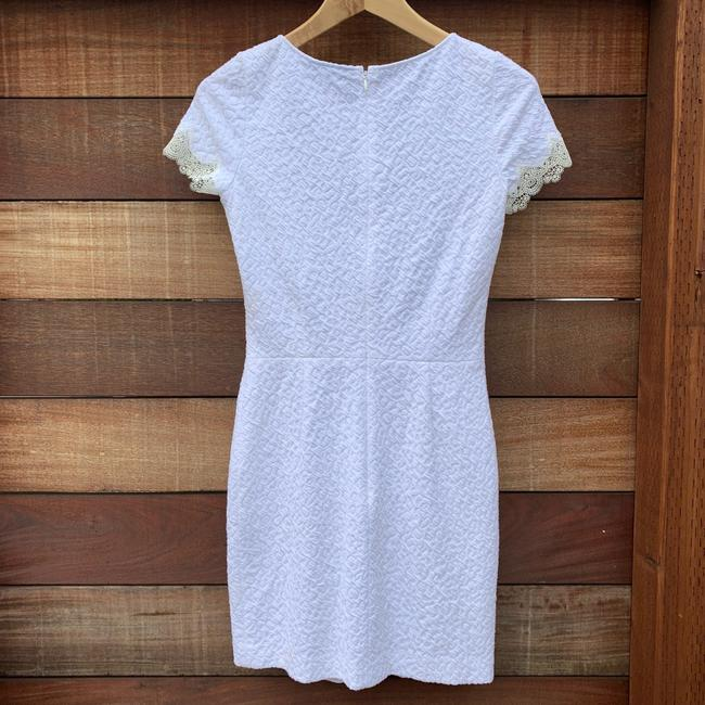 The Kooples short dress White Textured Lace Mesh Crepe Scalloped on Tradesy Image 4