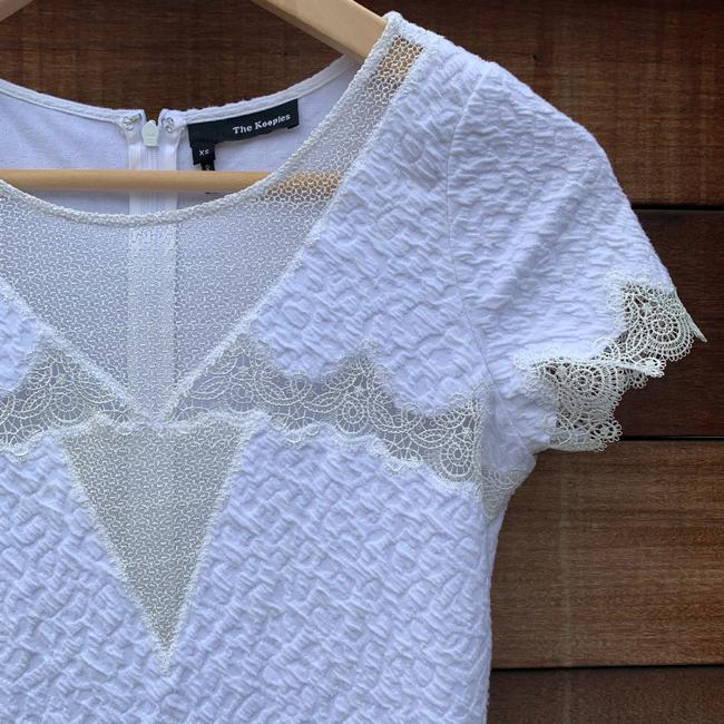 The Kooples short dress White Textured Lace Mesh Crepe Scalloped on Tradesy Image 5
