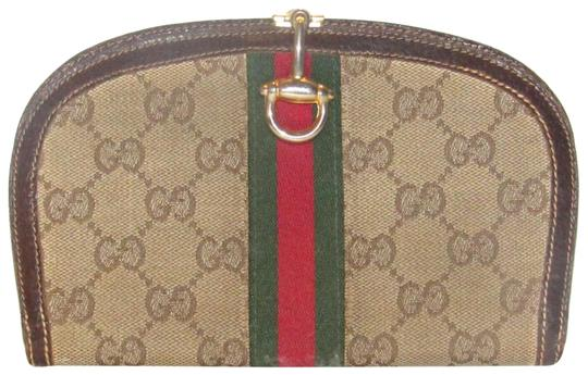 Gucci vintage Gucci horse-bit wallet with Sherry stripe Image 0