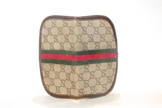 Gucci vintage Gucci horse-bit wallet with Sherry stripe Image 6