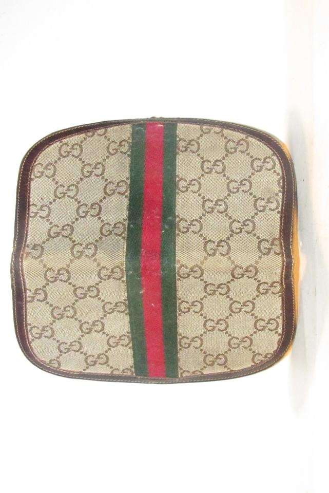 276dc5c39774ab Gucci vintage Gucci horse-bit wallet with Sherry stripe Image 11.  123456789101112