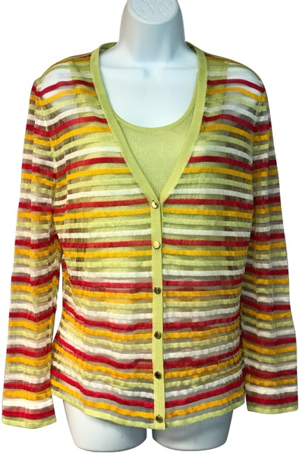 Preload https://img-static.tradesy.com/item/24554818/les-copains-multicolor-made-in-italy-knit-cardigan-twinset-42-blouse-size-6-s-0-1-650-650.jpg
