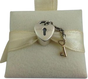 PANDORA Authentic Pandora Key To My Heart Two Tone Charm, 790288, New