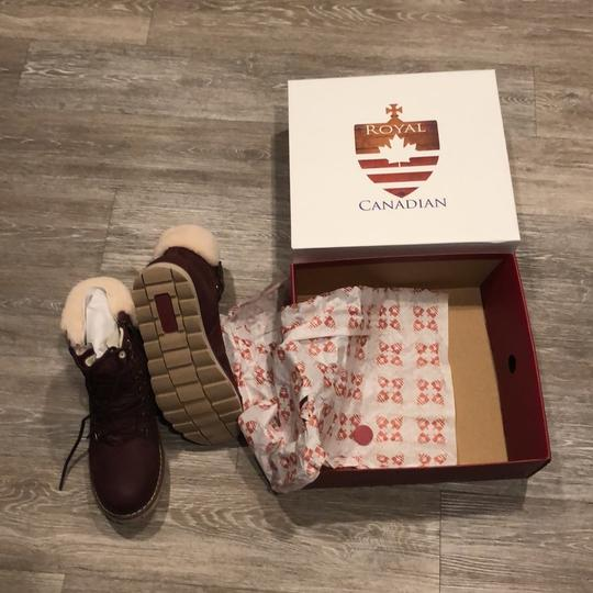 Royal Canadian burgundy Boots Image 5